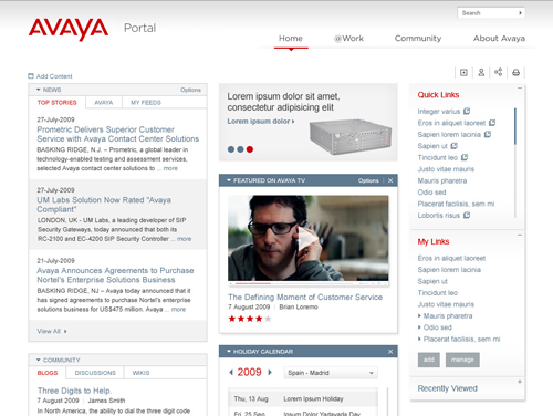 Avaya Intranet
